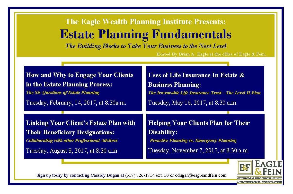 eagle & fein | estate planning fundamentals